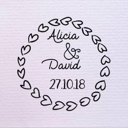 Sello de boda corazón 29,90€