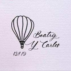 Sello de boda globo aerostático 29,90€