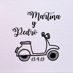 Sello de boda motocicleta 29,90€