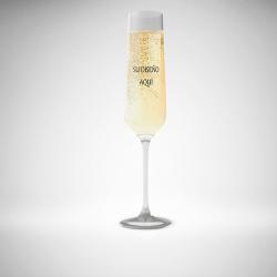 Copa champan boda personalizada
