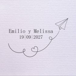 Sello de boda avión de papel 29,90 €