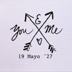 Sello de boda You & Me 29,90€