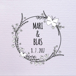 Sello de boda Mariposa 29,90 €