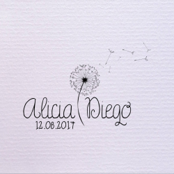 Sello de boda diente de león 29,90 €