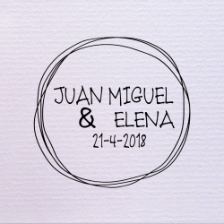 Sello de boda círculos 29,90€