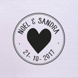 Sello de boda Círculo Corazón 29,90€