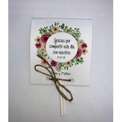 Tarjeta Agradecimiento piruleta 0,50€
